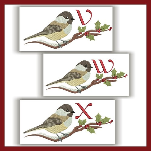 Chickadee Monogram VWX