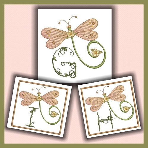Dragonfly Font GHI