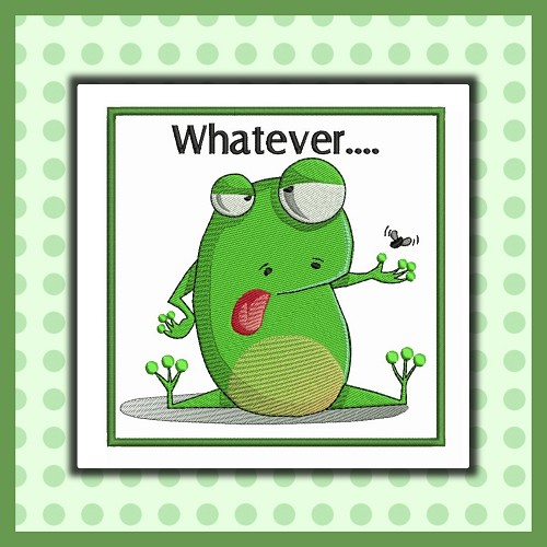 Funny Whatever Frog
