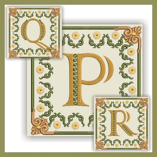 Golden Dream Monogram PQR