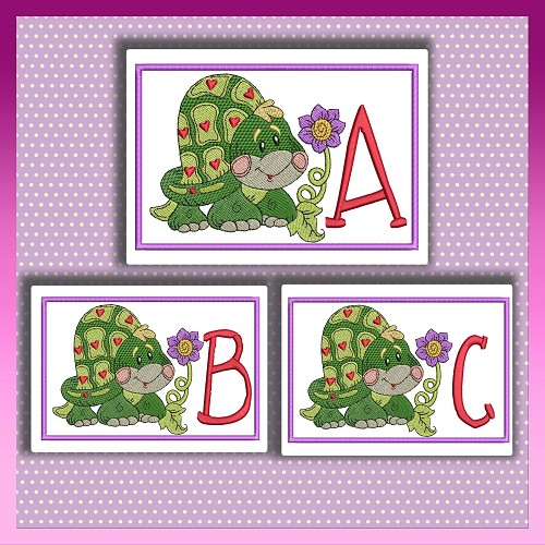 Heart Turtle Font ABC