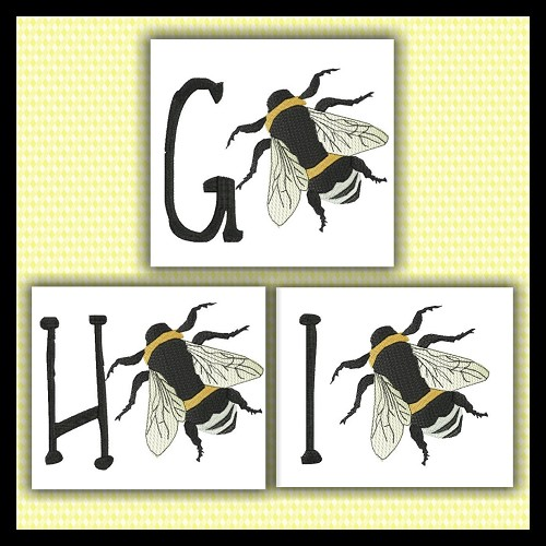 Honey Bee Font GHI