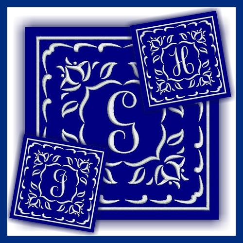 One Color Monogram GHI