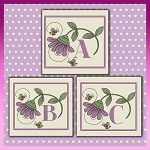 Purple Daisy Bee Font ABC