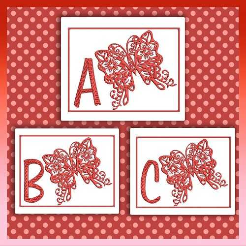 Red Butterfly Font ABC