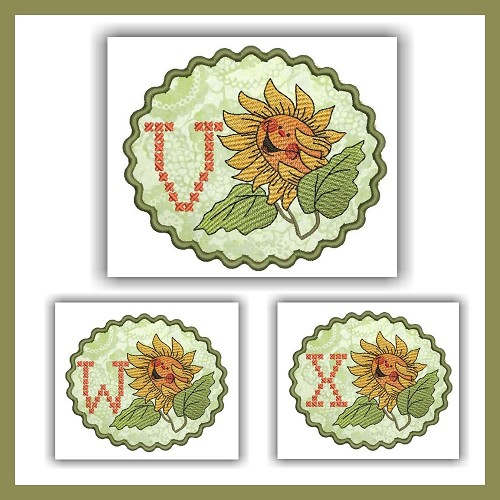 Sunflower Cross Font VWX