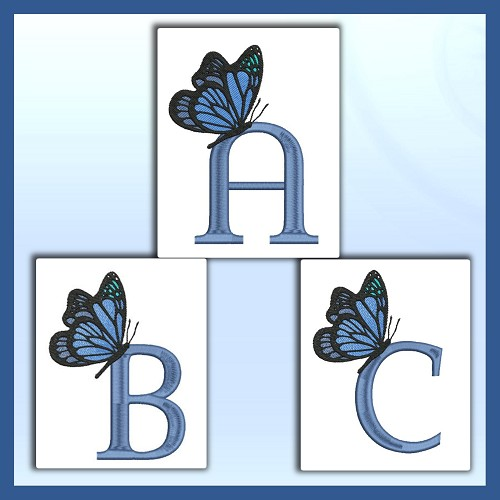 Blue Butterfly ABC