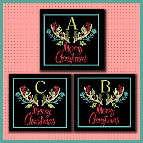 Christmas Antler Font ABC