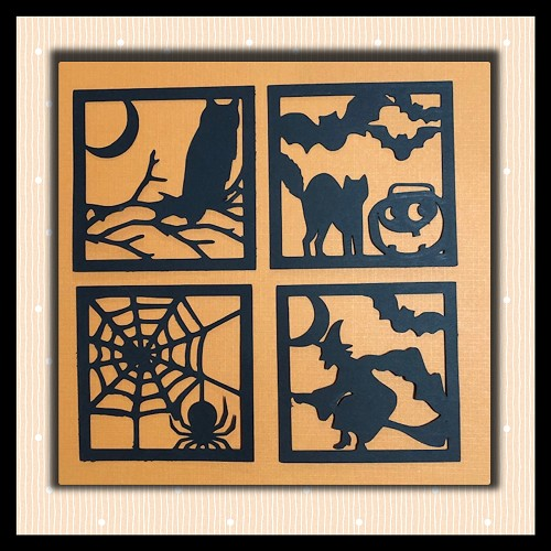 Halloween Box Squares SVG NOT EMBROIDERY