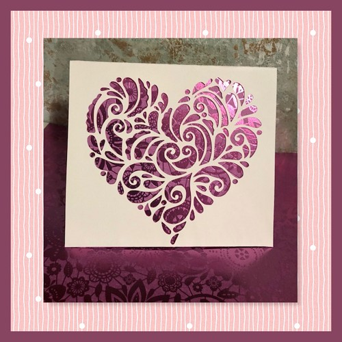 Heart Scroll  Not Embroidery SVG For Cutting Machines