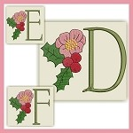 Holiday Flower Font DEF