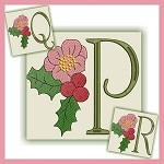 Holiday Flower Font PQR