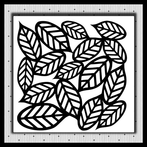 Leaves Background Not Embroidery SVG For Cutting Machines
