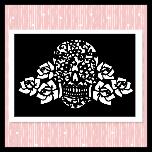 Rose Skull  Not Embroidery SVG For Cutting Machines