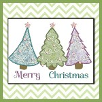 Applique Holiday Trees