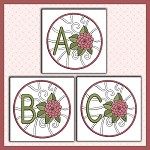 Floral Scroll Font ABC