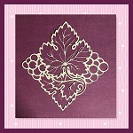 Grapes And Leaves  Not Embroidery SVG For Cutting Machines
