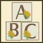 Just A Sunflower Font ABC