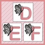 Pink And Black Butterfly Font DEF