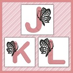 Pink And Black Butterfly Font JKL