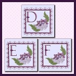 Purple Flower Corner Font DEF