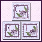 Purple Flower Corner Font GHI