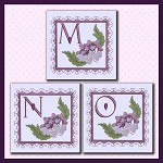 Purple Flower Corner Font MNO