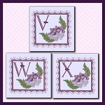 Purple Flower Corner Font VWX