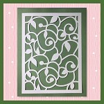 Scroll Leaf Vine Background Not Embroidery SVG For Cutting Machines
