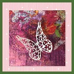 Butterfly in White Not Embroidery SVG For Cutting Machines