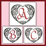 Black and Red Heart ABC