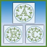 Blue And Green Monogram ABC