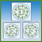 Blue And Green Monogram DEF