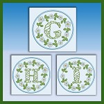 Blue and Green Monogram GHI