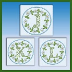 Blue and Green Monogram JKL