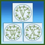 Blue And Green Monogram VWX