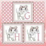 Bow Cat Font GHI