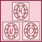 Butterfly Oval Font MNO