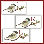 Chickadee Monogram JKL