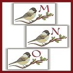 Chickadee Monogram MNO