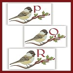 Chickadee Monogram PQR