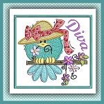 Diva Bird Stitches Single