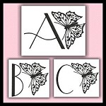 Fancy Butterfly Font ABC