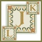Golden Dream Monogram JKL