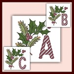 Holiday Cane Font ABC