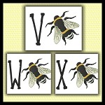 Honey bee Font VWX