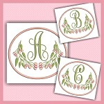 Pink Berry Monogram ABC