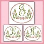 Pink Berry Monogram JKL
