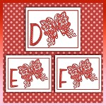 Red Butterfly Font DEF