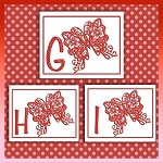 Red Butterfly Font GHI